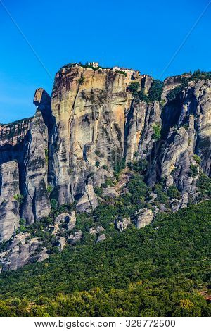 Monastery In Meteora - Thessaly, Greece, Europe
