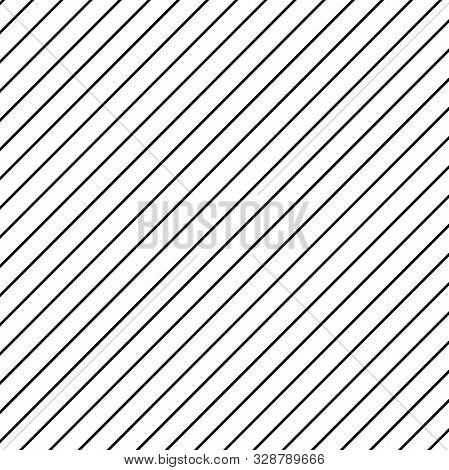 Diagonal Black Lines On White Background. Abstract Pattern With Diagonal Lines.