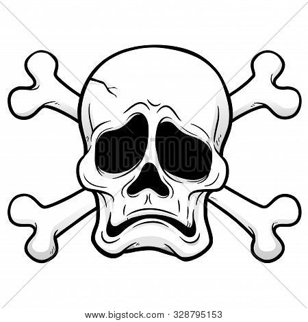 Comic Vector Image Of A Sad Jolly Roger