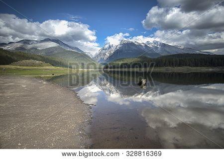 Pristine Mission Reservoir In Montana Near St. Ignatius, Montana