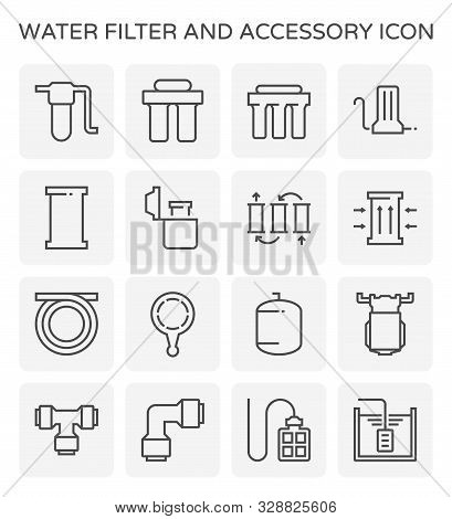 Water Filter And Purification Vector Icon Set Design For Water Filter And Purification Graphic Desig