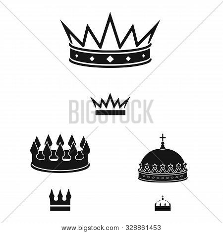 Vector Illustration Of King And Majestic Symbol. Set Of King And Gold Stock Vector Illustration.