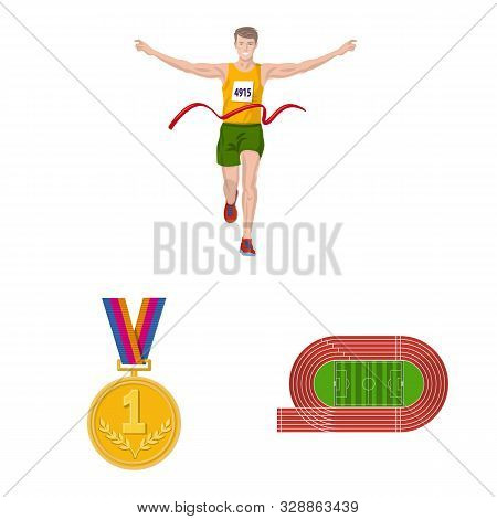 Vector Illustration Of Step And Sprint Symbol. Collection Of Step And Sprinter Stock Vector Illustra