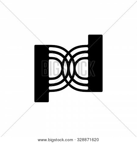 Letter Pd Stripes Geometric Simple Logo Vector