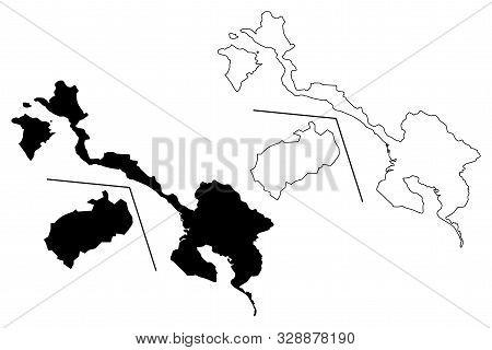 Puntarenas Province (republic Of Costa Rica, Administrative Divisions Of Costa Rica) Map Vector Illu