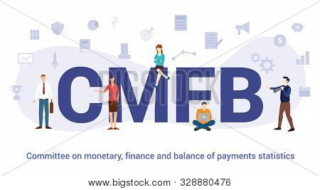 Cmfb Commitee On Monetary Finance And Balance Of Payments Statistics Concept With Big Word Or Text A