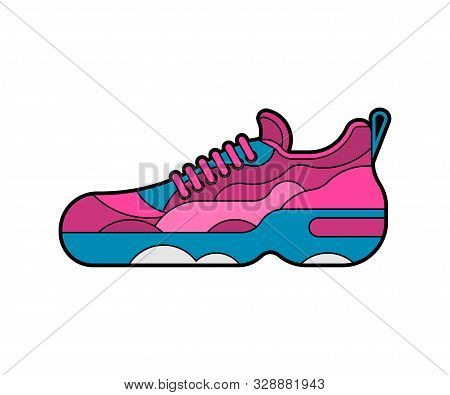 Sneaker Isolated. Sneakers Sports Shoes Vector Illustration