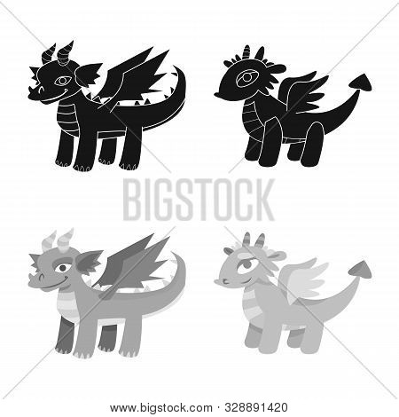 Isolated Object Of Legend And Halloween Sign. Set Of Legend And History Stock Vector Illustration.