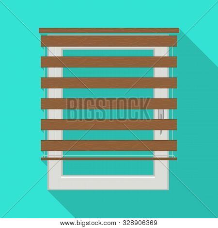 Isolated Object Of Jalousie And Roll Sign. Web Element Of Jalousie And Wooden Vector Icon For Stock.
