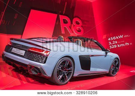 Frankfurt-september 19:  Audi R8 Spyder V10 Performace Quattro At The Frankfurt International Motor