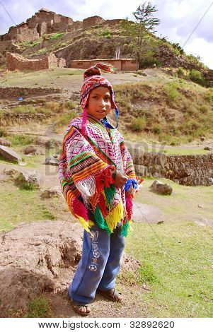 Child in traditional clothing