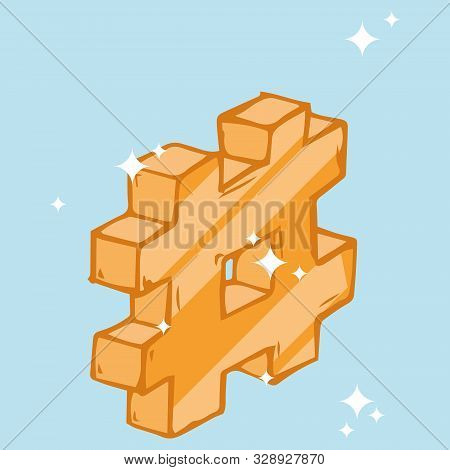 Hashtag Icon. Vector Illustration Of 3d Hashtag. Symbol Hashtag.