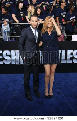 LOS ANGELES - MAY 10: Taylor Kitsch, Connie Britton at the premiere of Universal Pictures' 'Battleship' at The Nokia Theater L.A. Live on May 10, 2012 in Los Angeles, California