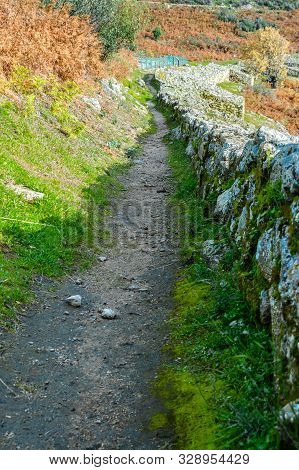 Wonderful And Colorful Interior Road In The Dated Walls In The Iron Age Dating Back To The 3rd Centu