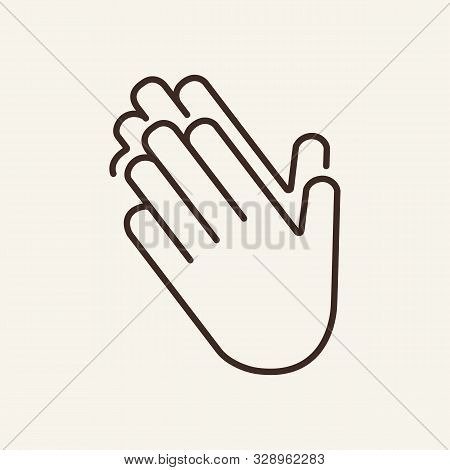 Clapping Their Hands. Hands, Gesture, Clapping. Gesturing Concept. Vector Illustration Can Be Used F