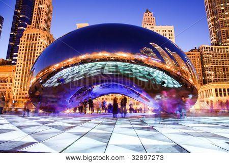 Chicago Bohne in der Nacht