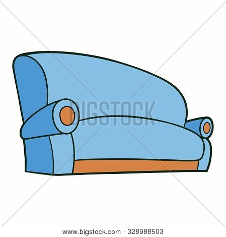 Illustration Of A Big Comfortable Sofa On A White Background