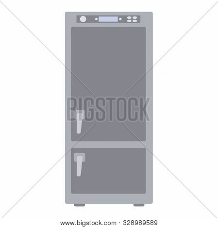 Illustration Of A Refrigerator Flat Icon On A White Background