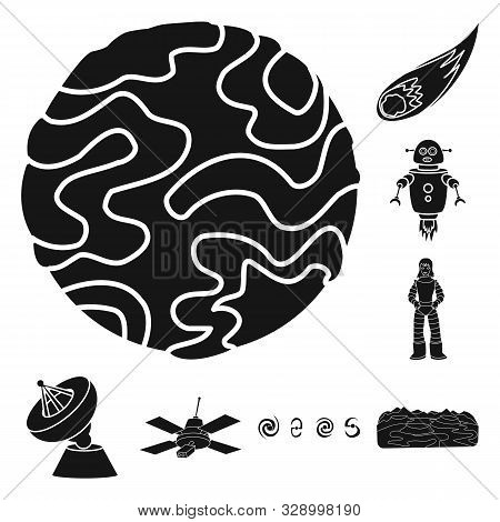 Vector Illustration Of Colonization And Sky Symbol. Collection Of Colonization And Galaxy Stock Symb