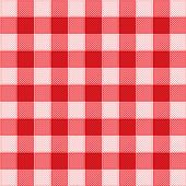 Illustration vector background fabric eps8, Pattern picnic tablecloth vector poster