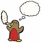 cartoon robin smoking cigarette poster