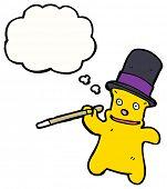 cartoon dancing teddy bear in top hat poster