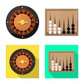 Isolated object of entertainment and competition icon. Collection of entertainment and rivalry vector icon for stock. poster