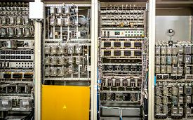 Cabinets With Equipment For The Control Of Power Substation