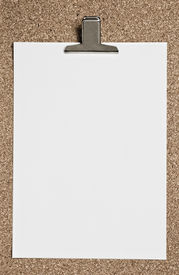Blank Paper With Metal Clip