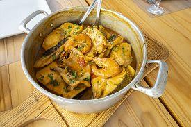 Portuguese Seafood Cozido Cooked In A Fumarole
