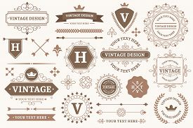 Vintage Sign Borders. Elegant Frame, Luxurious Old Design And Antique Typography Border. Best Produc