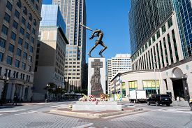 Jersey City, United States - September 19, 2019: The Katyn Memorial, Which Is Dedicated To The Victi