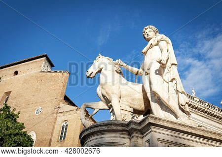 The Statue Of Castor (statua Di Castore), A Renaissance Sculptural Work Installed At The Entrance To