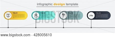Set Line Skate Park, Action Camera, Skateboard Wheel And T Tool. Business Infographic Template. Vect