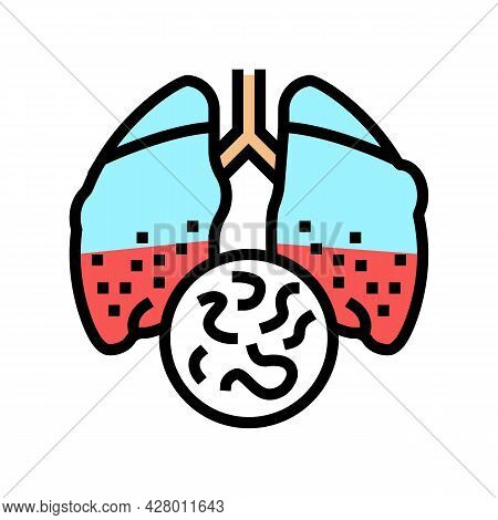 Infectious Disease Tuberculosis Color Icon Vector. Infectious Disease Tuberculosis Sign. Isolated Sy