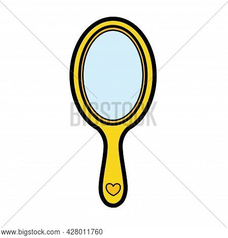 Hand Mirror Color Variation For Coloring On A White Background