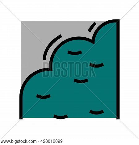 India Rubber Color Icon Vector. India Rubber Sign. Isolated Symbol Illustration