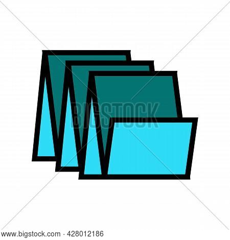 Floor Tiles Color Icon Vector. Floor Tiles Sign. Isolated Symbol Illustration