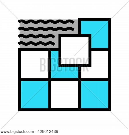 Ceramic Tile Color Icon Vector. Ceramic Tile Sign. Isolated Symbol Illustration