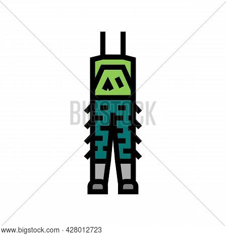 Camouflage Pants For Hunting Color Icon Vector. Camouflage Pants For Hunting Sign. Isolated Symbol I