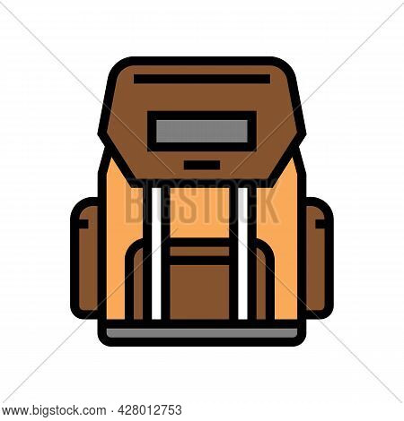 Hiking Backpack For Hunting Color Icon Vector. Hiking Backpack For Hunting Sign. Isolated Symbol Ill