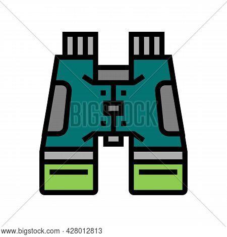 Hiking Binoculars Color Icon Vector. Hiking Binoculars Sign. Isolated Symbol Illustration