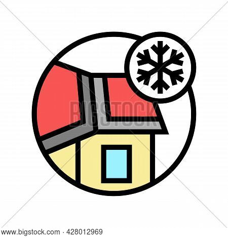 Ice And Water Shield Color Icon Vector. Ice And Water Shield Sign. Isolated Symbol Illustration