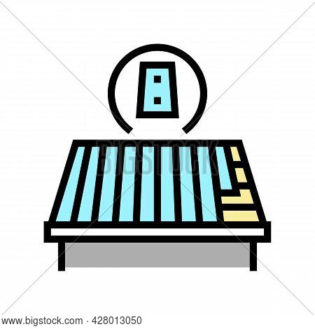 Metal Roof Color Icon Vector. Metal Roof Sign. Isolated Symbol Illustration