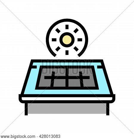 Solar Panel Installation Color Icon Vector. Solar Panel Installation Sign. Isolated Symbol Illustrat