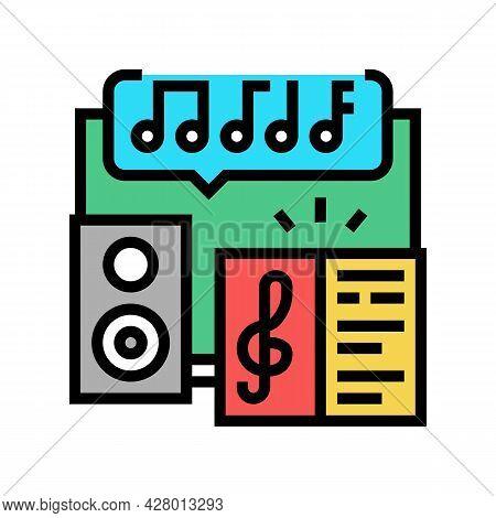 Music School Lesson Color Icon Vector. Music School Lesson Sign. Isolated Symbol Illustration