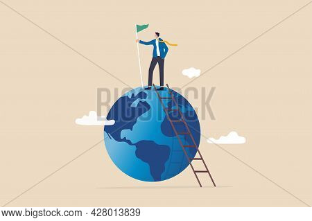 Winning World Or Global Business Success, International Opportunity To Grow And Expand Business, Wor
