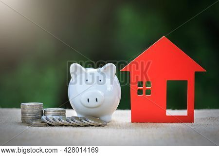 Saving Money For Real Estate With Buying A New Home And Loan. Choosing The Right Real Estate Propert