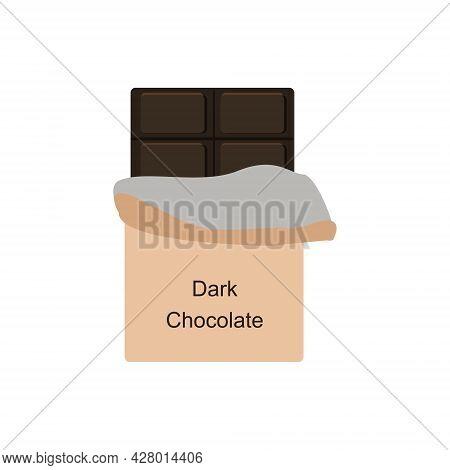 Chocolate Bar.dark Chocolate.unrolled Chocolate Bar.  Cocoa Sweet