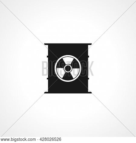 Toxic Container Icon. Toxic Waste Simple Vector Icon. Toxic Container Isolated Icon.